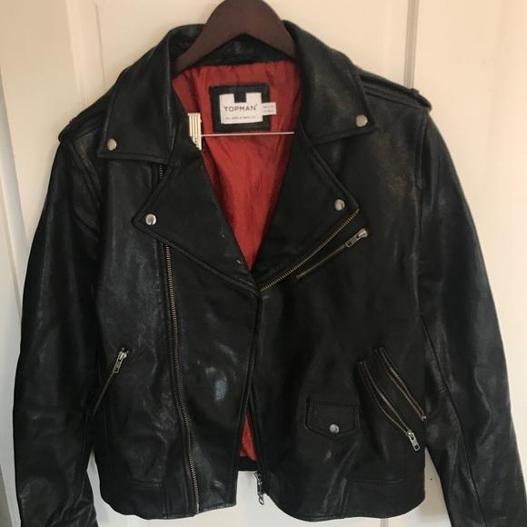 414855373 Jackets & Coats | Topman Leather Biker Jacket | Poshmark